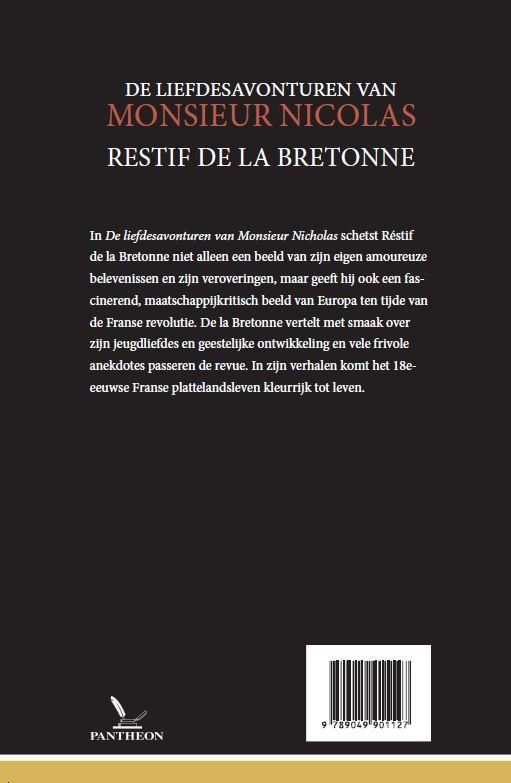 Restif de la Bretonne,De liefdesavonturen van Monsieur Nicolas