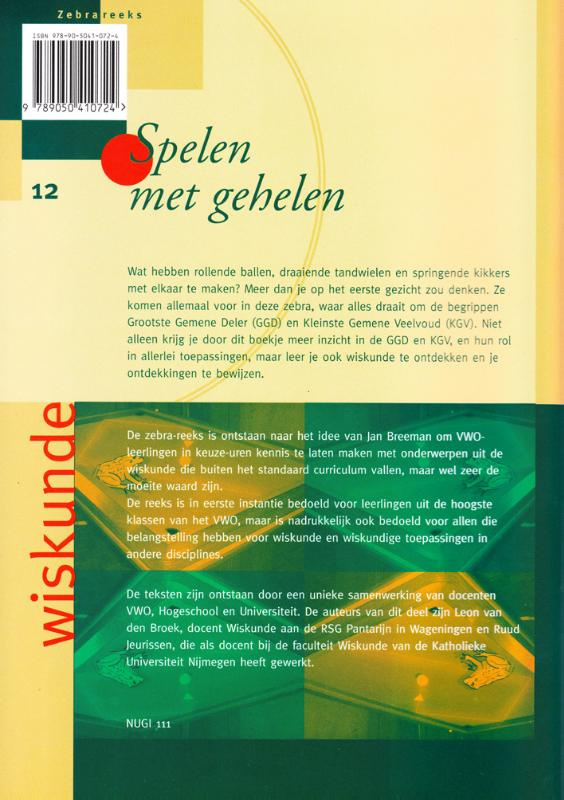 R. Jeurissen, L. van den Broek,Spelen met gehelen