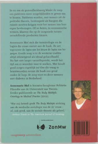 Annemarie Mol,De logica van het zorgen