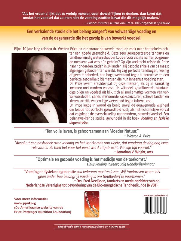 Weston A. Price,Voeding en fysieke degeneratie