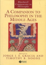 Gracia,   Noone A Companion to Philosophy in the Middle Ages
