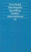 Hodjak, Franz Siebenbürgische Sprechübung