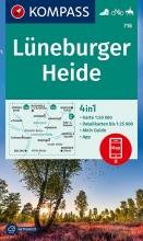 KOMPASS-Karten GmbH , KOMPASS Wanderkarte Lüneburger Heide 1:50 000