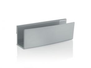 , Opbergvak, lichtgrijs, inclusief magnetische clip voor      bevestiging aan het glas-magneetbord, kunststof, 160x54x43
