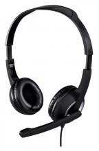 , Hoofdtelefoon Hama HS-P150 PC-Office on-ear zwart