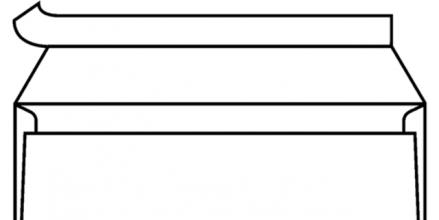 , Envelop C5/6 114x229mm venster rechts strip wit 500st