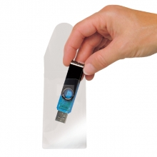 , USB hoes 3L 52.5x90mm met sluiting zelfklevend transparant