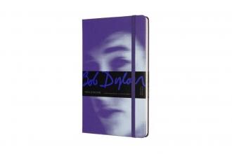 , Moleskine LE Notitieboek Bob Dylan Large (13x21 cm) Gelinieerd Violet