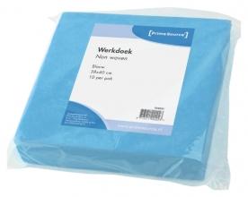 , Werkdoek PrimeSource Non Woven blauw 38x40cm 10 stuks
