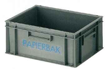 , Papierbak verzamelbak kunststof 40x30x17.5cm grijs