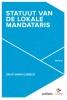 David  Vanholsbeeck,Het statuut van de lokale mandataris
