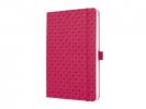 ,notitieboek Sigel Jolie Flair A5 hardcover gelinieerd       fuchsia roze