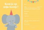,Fabrique a la Carte Uitnodiging Kinderfeestje - Olifant