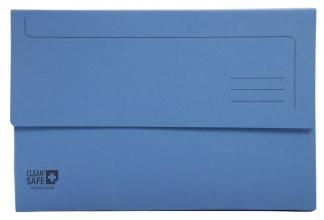 , Pocketmap Exacompta Clean`Safe A4 400gr blauw