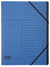, Sorteermap Exacompta Clean`Safe 12-vakken blauw