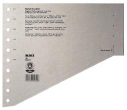 , Scheidingsbladen Leitz A4 karton 200gr 11-gaats grijs