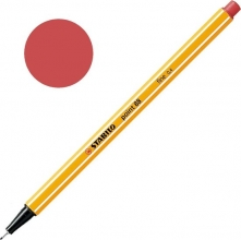 , Fineliner STABILO point 88/47 roestig rood