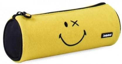 , Schooletui rond 23 cm smiley world crazy thing