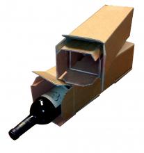 , Wijndoos CleverPack 112x112x355mm karton bruin 3stuks