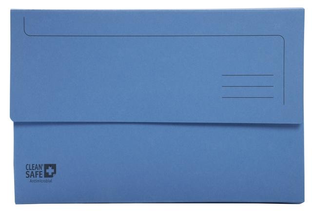 ,Pocketmap Exacompta Clean`Safe A4 400gr blauw