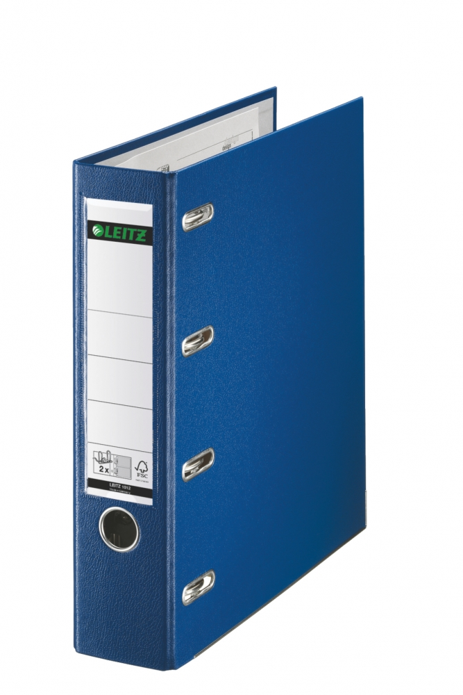 ,Bankordner Leitz A4 80mm 2 mechanieken blauw