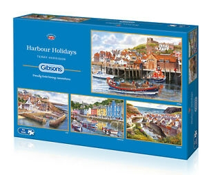 Gib-g5052,Harbour holidays - terry harrison - gibsons puzzel - 4 x 500 - ( 34.5x48.5)