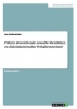 Hofmeister, Ina, F?hren abweichende sexuelle Identit?ten zu diskriminierenden Verhaltensweisen?