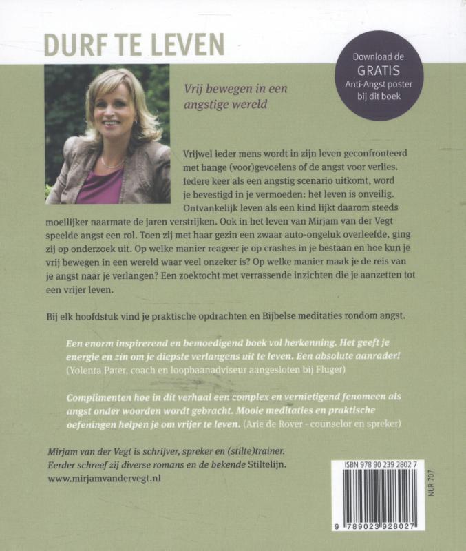 Mirjam van der Vegt,Durf te leven