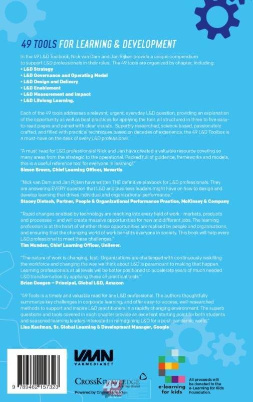 Nick van Dam, Jan Rijken,49 Tools for Learning & Development