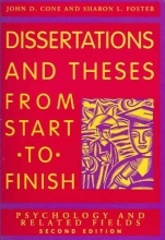 John D. Cone,   S.L. Foster Dissertations and Theses from Start to Finish