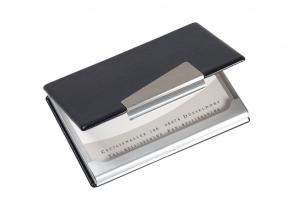 , visitekaartjesetui Sigel aluminium voor kaarten tot 90x58mm