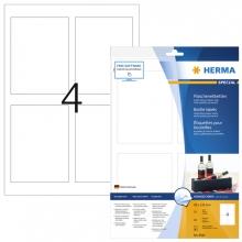, Etiket Herma flessen 8882 90x120mm A4 40st glossy wit