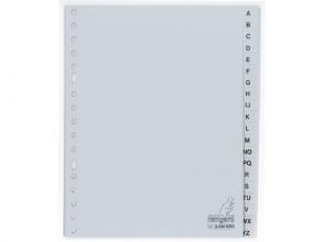 , Tabbladen Kangaro A5 17-gaats G520AZM alfabet grijs PP