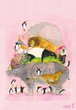 , Posters springende pinguins en lachende hyena s (25 ex.)