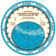 Rob Walrecht , Vakantie planisfeer voor Zuid Europa (40 N)