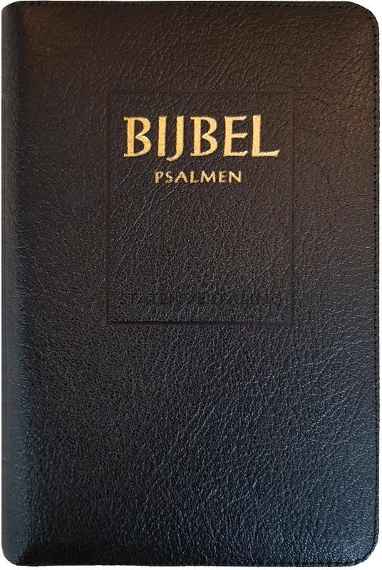 ,Bijbel (SV) met psalmen (niet-ritmisch) - met goudsnee, rits en duimgrepen