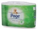 ,<b>Toiletpapier Page Aloë Vera 2-laags 200vel wit 6 rollen</b>