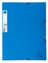 , Elastomap Exacompta Clean`Safe 3-kleppen glanskarton blauw