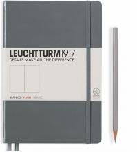 Lt344785 , Leuchtturm notitieboek medium 145x210 blanco anthraciet