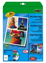 , inkjet Ultra fotopapier A4 180 gram hoogglans 20 vel