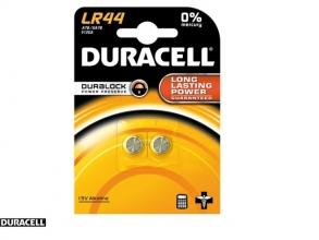, Batterij Duracell knoopcel 2xLR44 alkaline Ø11,6mm 2 stuks