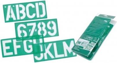 , Lettersjabloon Linex 100mm hoofdletters/letters/cijfers