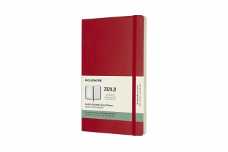 , Moleskine 18 MND Agenda - 2020/21 - Wekelijks - Large (13x21 cm) - Scarlet Red - Zachte Kaft