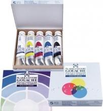 Talens plakkaatverf mengset 5 kleuren 20 ml c405 karton