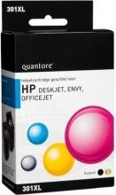 , Inktcartridge Quantore HP CH563EE CH564EE 301XL zwart + kleur