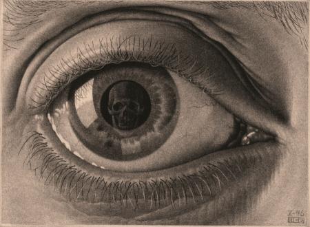 Puz-842,Puzzel m.c. escher oog - 1000