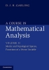 Garling, DJH, Course in Mathematical Analysis