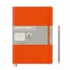 <b>Lt349278</b>,Leuchtturm notitieboek composition softcover 178x254 mm lijn oranje