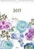 ,<b>Maandkalender 2019 a4 spiraal bloemen</b>