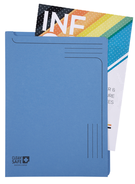 ,Insteekmap L-model Exacompta Clean`Safe bedrukt blauw